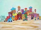 arabische Stadt in der Wüste